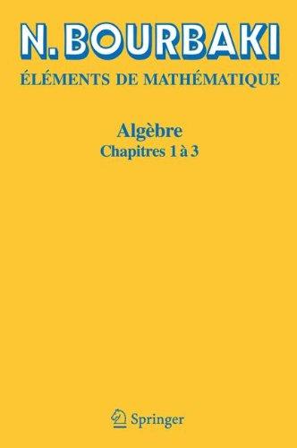 Algbre, chapitres 1  3