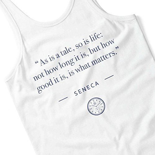 Stoic Time Seneca As Is A Tale So Is Life Quote Women's Vest White