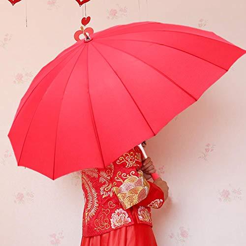 Sunflowerany Herzform Regenschirm Langer Stick UV Schutz Baldachin Regenschirm für Valentinstag, Hochzeit, Engagement und Foto Requisiten