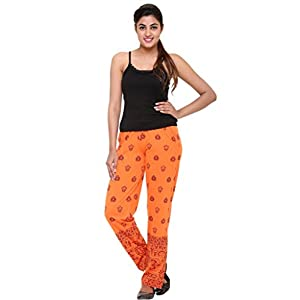 Women's Cotton Blended Printed Lounge Wear – Track Pants