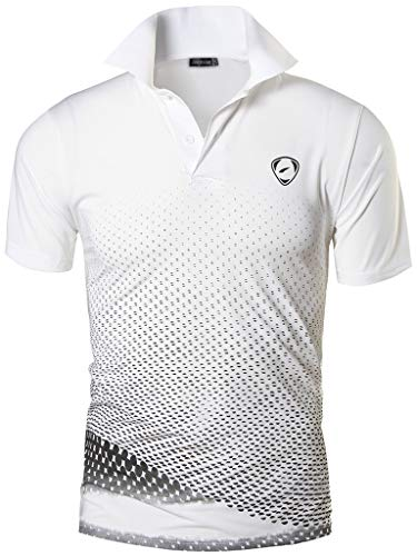 Jeansian Hombres Verano Deportes Wicking Transpirable Quick Dry Short Sleeve Polo T-Shirts Tops Running...
