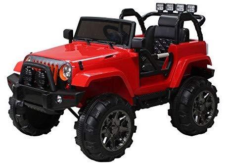 Actionbikes Motors Kinder Elektroauto Offroad Jeep Adventure 2 x 35 Watt (Rot)