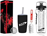 gulp Fruit Infuser Water Bottle 1 Litre, Tritan Unit with Full Length Infusion
