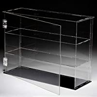 LANSCOERY Multi Steps Clear Acrylic Display Case Countertop Box Cube Organizer Stand Dustproof Protection Showcase for Action Figures/Toys/Collectibles