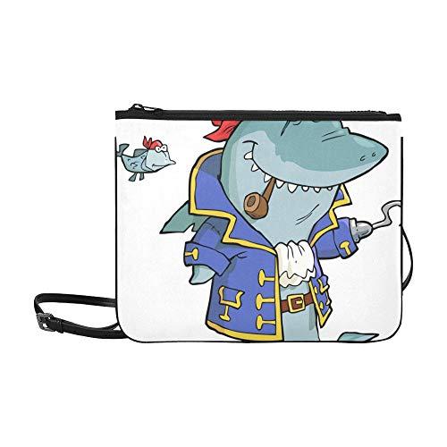 it Schiffswrack Muster Benutzerdefinierte hochwertige Nylon Schlanke Handtasche Umhängetasche Umhängetasche ()