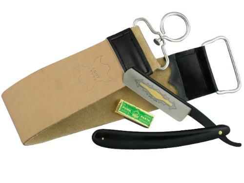 Rasiermesser-Set mit Paste aus Solingen, Rasierschale, Rasierpinsel, Streichriemen Abbildung 3