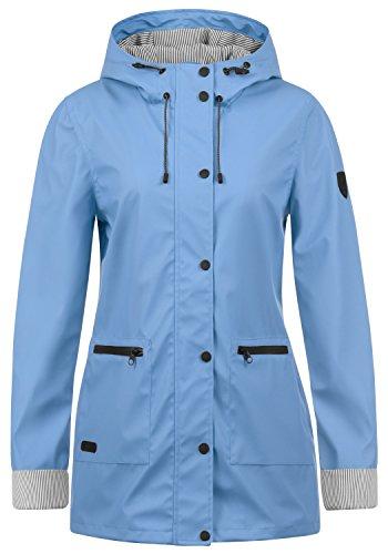 DESIRES Becky Damen Regenmantel Windbreaker Übergangsmantel mit Kapuze, Größe:S, Farbe:Sky Blue (1025)