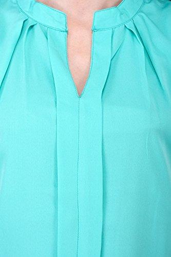 Sarjana Handicrafts - Camicia -  donna Sea Green
