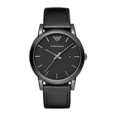 Emporio Armani Men's Analogue Quartz Watch with Leather Strap AR1732
