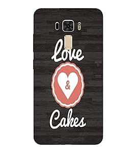 EPICCASE Cake love Mobile Back Case Cover For Asus Zenfone 2 Laser ZE551KL (Designer Case)