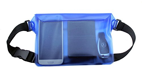 Topsum London Blue Sports Waterproof Beach Swimming Cycling Waist Bum Bag For Cameras Mp3 Mp4 Ipod Mobile Phones -...