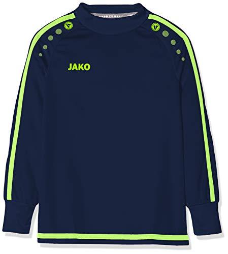 JAKO Kinder Striker 2.0 Tw-Trikot, Navy/Lemon, 140