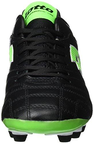 Lotto Stadio 300 FG, Chaussures de Foot Homme Noir (Blk/Mint Fl)