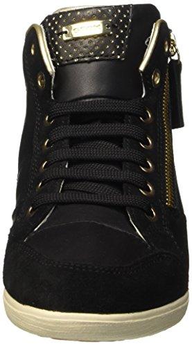 Geox D Myria A, Sneakers Hautes Femme Noir (C9999)
