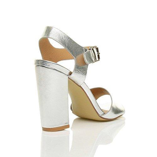 Lazer De Metálicos Senhoras Tiras De Sandálias De De Prata Elegantes De Vendas Sapatos Partido Tamanho Fivela Alta PB6Hqqv
