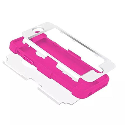 iPhone 6S Plus Case,iPhone 6 Plus Case,5.5inch par Lantier, Intérieur souple Pare-chocs & Shell dur de PC Back, l'absorption des chocs et antidérapante, anti-rayures Hybrid 3 en 1 double couche Cover  Black+Black