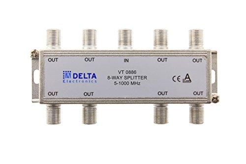 VT 0886, F-Verteiler 8-fach 5-1000 MHz, TV-Verteiler, BK-Verteiler, DVB-C, Kabelfernsehen, Splitter (Delta Splitter)