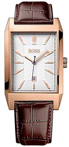 Hugo Boss Men's Quartz Watch with Black Dial Analogue Display Quartz Leather 1513075