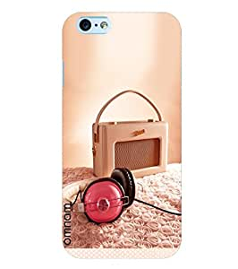 Omnam Music Lover Scene On Roses With Headphone And Radio Designer Back Cover Case For Apple iPhone 6/6s