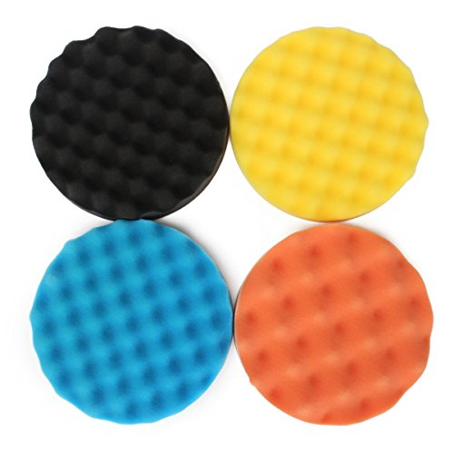 ExcLent 4Pcs 7 Zoll/180Mm Waffel Polieren Buffing Pad Wachsen Schwamm Polieren Für Rotary Tool (Waffel-pad)