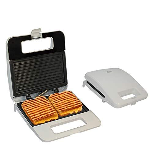 Küche Lange Streifen Waffeleisen, Haushalt Sandwich-Maschine Toaster, 3 Minuten Schnell Frühstücksmaschine, 750W Quadrat Antihaft-Beschichtung Design -Weiß