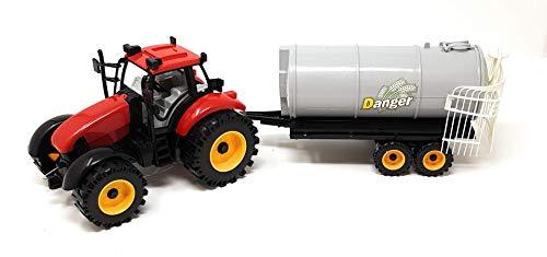 EWTG XL 28cm Traktor Spielzeug Trekker Großer Schlepper Mit Günger-Anhänger Güllewagen Anhänger