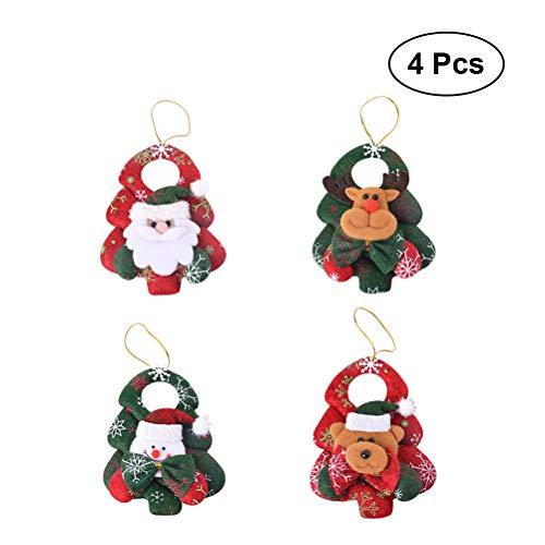 Bestoyard fai da te albero di natale feltro con ornamenti per i regali di natale dei capretti decorazione di appendere di parete - 4pz