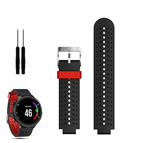 iFeeker Accesorio Air Hole Style Silicona suave correa de reloj de repuesto con herramientas diseñadas para Garmin Forerunner 220/230/235/630/620/735XT Sports GPS Correa de reloj