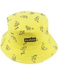c72796fe55467 Kingko ® Double Side Banana Chips Hats Unisex Funky Passion Bucket Hat  Fishmen Cap Outdoor Hat