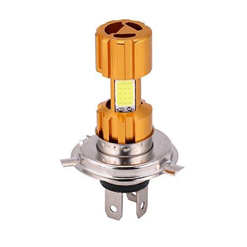 Elerose lampe de phare de moto,Phares modifiés de moto, phares à DEL à trois griffes universels H4 18W DC12V