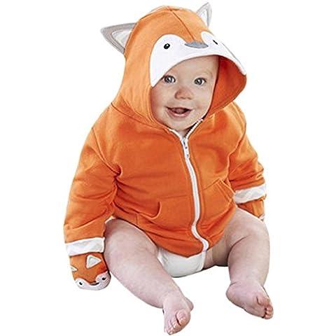 Koly La niña de los niños del muchacho Fox camiseta con capucha Tops ropa de abrigo (90)