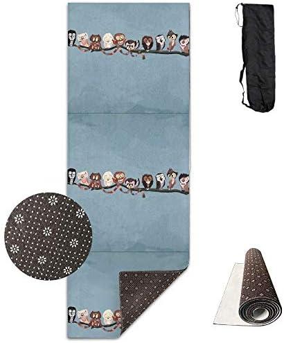 LoveBiuBiu Yoga Mat Non Slip Artistic Artistic Artistic Owl 24 X 71 Inches Premium Fitness Exercise Pilates Carrying Strap B07KHT2NL3 Parent | Tocco confortevole  | Exquisite (medio) lavorazione  | Prezzo Affare  3ea72c