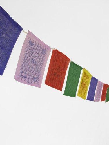 Flags Drapeau de prières tibétain fait main Format standard
