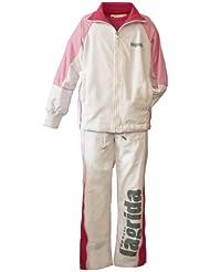 Chándal para niña blanco de rosa, sol protección UV Standard 801 Talla:164