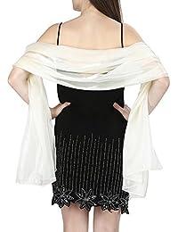 World of Shawls soyeux iriséécharpe étole enveloppante écharpe pour mariage  noces demoiselle d honneur Soirée 326df6c17aa