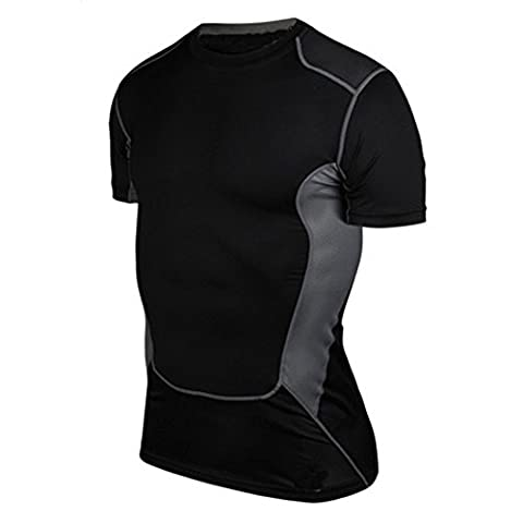 Balai Compression Mens Muscle Fitted Athletic T Shirt Base Layer Sport Gear Tops