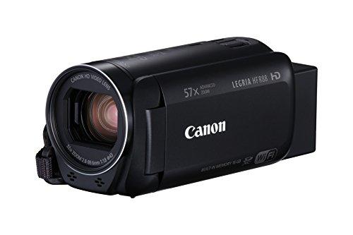 Canon Legria HF R88–Videocamera da 16GB, Full HD, Zoom 57x, ritratto Is ottico intelligente, WIFI/NFC) Nero
