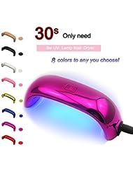 Coscelia Lampe LED 9W Mini Séchoires à Ongles pour Vernis Gel Semi Permanent Nail Art Rose Rouge