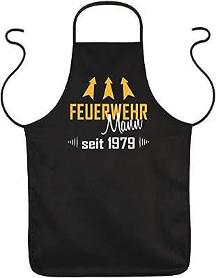 Mega-Shirt Schürze Feuerwehr Mann seit 1979 Geschenk zum 40. Geburtstag zum 40 Geburtstag Küchenschürze 40 jähriger Geschenkidee 40iger