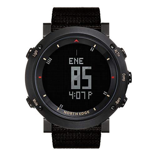letter54 Outdoor Uhr Fitness Uhren Rund Swatch Herren Uhren Hybrid Smartwatch Fitness Smaet Watch North Edge Altay Sports Smart Outdoor-Kompass-Armbanduhr-Rücklicht für die Fischerei