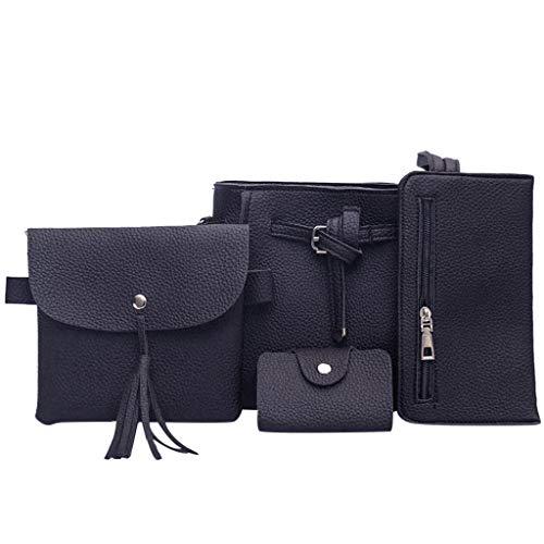Xuthuly Frauentasche 2019 vierteilige Umhängetasche Umhängetasche Brieftasche Handtasche