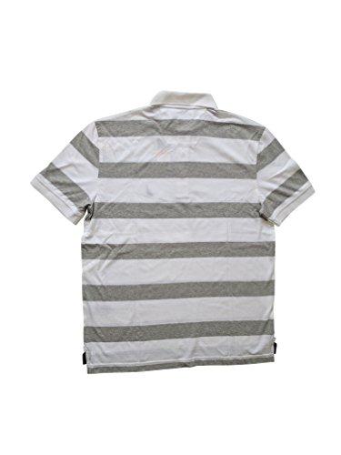 Nautica Herren Poloshirt Weiß/Grau