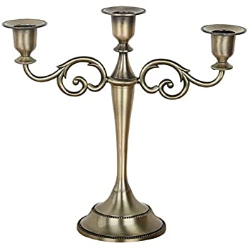 3 Arm Candle Holder Candelabra Stick Home Candlestick Dinning Table Decor Prop