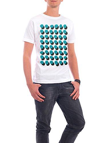 """Design T-Shirt Männer Continental Cotton """"Work-Eat-Meet-Sleep"""" - stylisches Shirt Typografie Geometrie von Doozal Collective Weiß"""