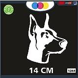 mural stickers Aufkleber für Auto - Cane - Dobermann - Stickers - Notebook - Hunde Aufkleber, Hundeaufkleber, Hundeaufkleber, Autozubehör, Sticker, Decal Cod 1341 Bianco