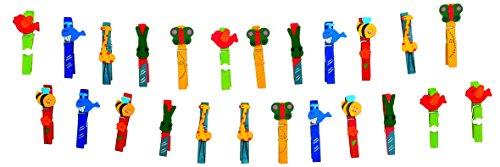 """small foot 1780 Wäscheklammer-Set \""""Tiere\"""" aus buntem Holz, Spielzeug für Kinder, 24 Einheiten, ab 3 Jahren"""