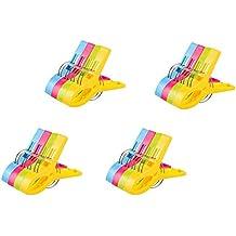 Vicloon 16Pcs Pinzas de Toalla de Playa Grande Fuerte Clips Plástico,Resistente Clips Brillante Color