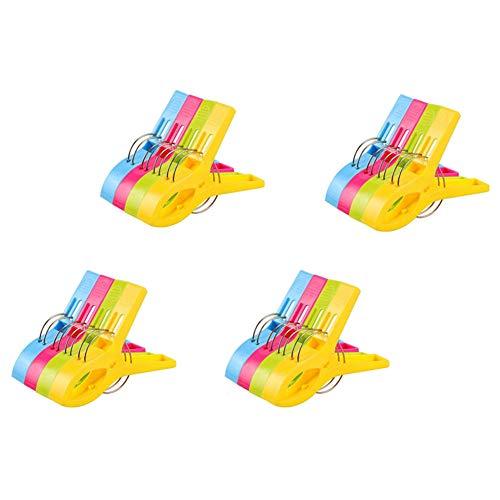Vicloon Badetuch Clips 16 Stück große Wäscheklammern Handtuchklemmen Strandtuchklammern Clips...