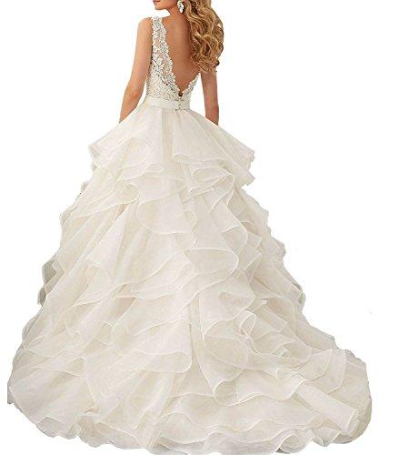 Fanciest -  Vestito  - linea ad a - Donna Avorio