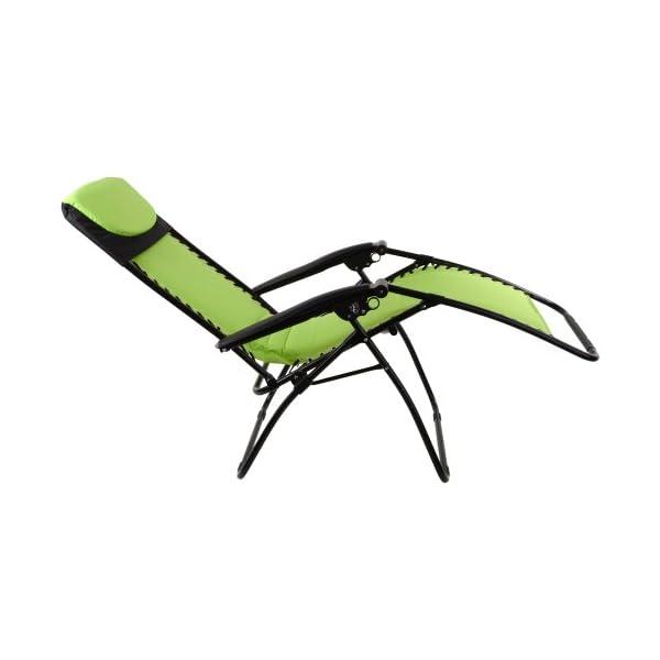 Azuma Padded Zero Gravity Chair - Lime Green